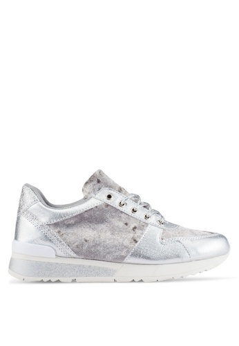 Something Borrowed silver Contrast Sneakers 6B008SH088DFA1GS_1