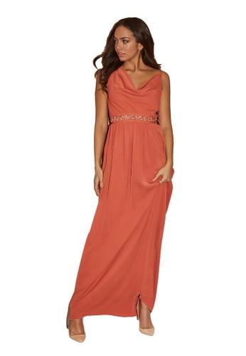 Little Mistress orange Rust Emb Belt Maxi Dress 54E87AA3DD02B8GS_1