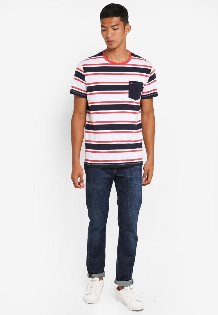 Red Jack T Stripe Cardell White Navy Shirt Wills CWqBHw