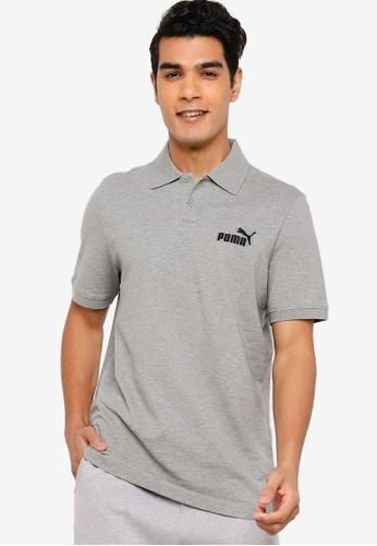 PUMA grey Essentials Pique Men's Polo Shirt DCD18AA1E4B405GS_1