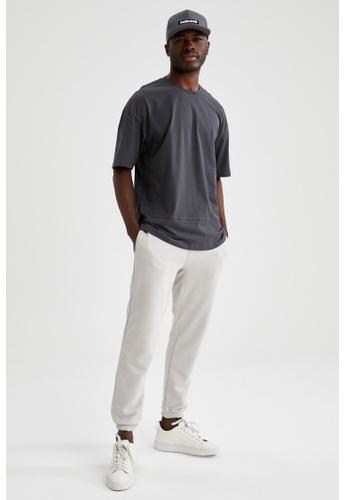 DeFacto grey Short Sleeve Round Neck Basic T-Shirt C138BAABD49D3BGS_1