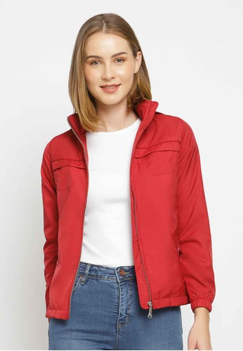 C2 Outfitters red C2 Belvan Red Bikers Jacket E5D1BAA7B099E5GS_1