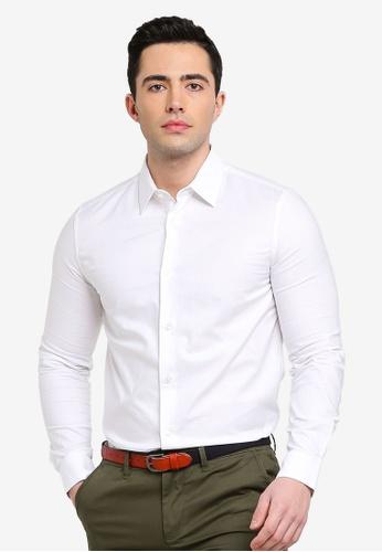 fd2dc1a21f53 Burton Menswear London white White Slim Fit Single Cuff Oxford Shirt  AE5BDAA3D729CFGS_1