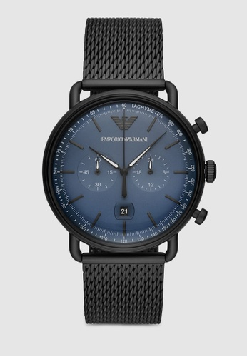 Emporio Armani black Aviator Watch AR11201 55D7CACD209E5CGS_1