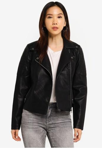 Noisy May black Rebel Long Sleeve Jacket E1FF3AA09726FDGS_1