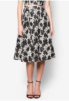 Premium Printed Midi Skirt