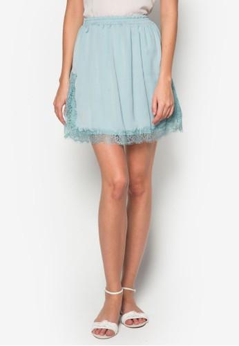 蕾絲短裙,zalora 包包評價 服飾, 裙子