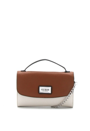Guess brown Central Mini Crossbody Bag D530EACB879FCAGS_1