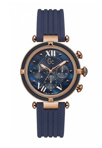 GC Watch blue GC Guess Collection Jam Tangan Wanita - Blue Rosegold -  Rubber - Y16005L7 d9a6d879ae