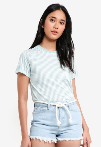 Penshoppe blue The Dress Code Relaxed Fit Tee With Pocket FB355AA3F6B741GS_1
