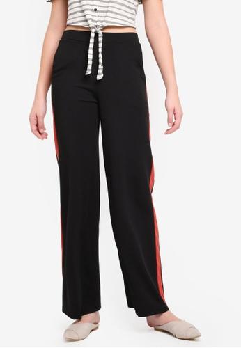 Miss Selfridge black Rust Side Striped Wide Leg Trousers 7F79CAA909DDCBGS_1