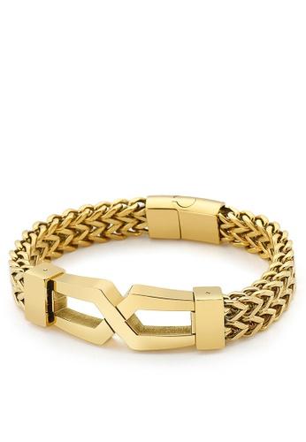 HAPPY FRIDAYS Stylish Double Layer Titanium Steel Bracelet KL149650 49D07AC093D855GS_1