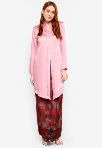Butik Sireh Pinang pink Yumna Long Modern Kebaya ED0DDAA86919E0GS_1