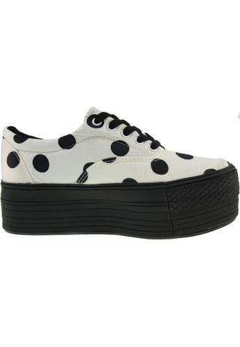 Maxstar 白色 新款韩国鞋C50-5H-Dot時尚帆布布混合女白色 US Women Size MA345SH22GSJTW_1