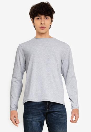 OVS grey Plain Sweatshirt 31074AA6052F73GS_1