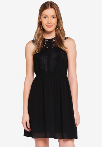 Angeleye black Lace Sleeveless Casual Mini Dress 24E18AA8A76EA9GS_1