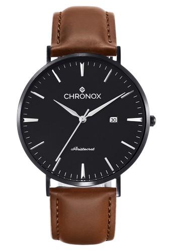 CHRONOX black and brown Chronox CX1002/A1 - Jam Tangan Wanita Casual - Tali Kulit Coklat - FB 627DEAC33A3AD0GS_1