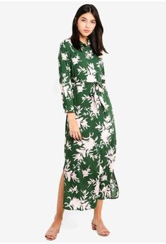 3a378c2fc1c Dorothy Perkins green Petite Green Floral Maxi Dress 9966BAA1F3A0C3GS 1