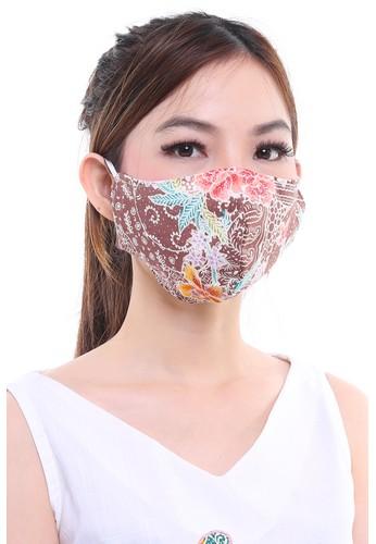 DhieVine Batik multi and brown Assorted Batik Encim Pastel EAR-LOOP Facemask (3PCS) 60B53ES94A3F85GS_1