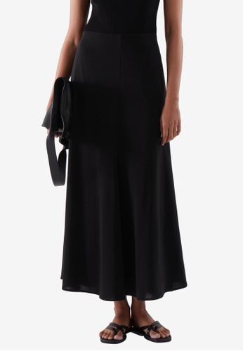COS black Flared Midi Skirt FA147AAD769910GS_1