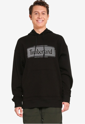 Timberland black Logo Pullover Hoodie 7E517AA635C069GS_1
