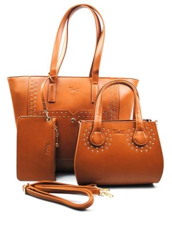 Kimbel International brown HGZ70123 3in1 Handbag KI262AC0J9XCPH_1