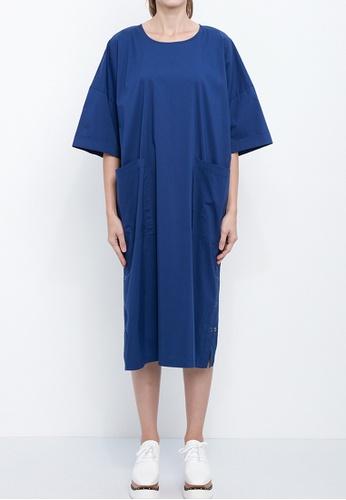 Dkny blue DKNY Women Stretch Elbow Dress With Side Snaps 88DE2AAB596F51GS_1