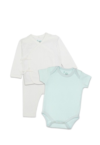 Baby 9months white and blue and multi Turquoise Rompers & Pyjamas Set C3DFAKA3BAA3ABGS_1
