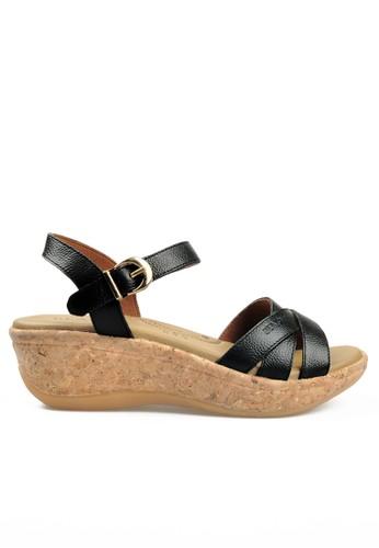 Beajove black Cielo Wedges Sandals BE707SH66IYZID_1