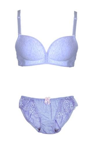 Cynthia purple Pastel Lacey Bra-Purple CY646US0UTDWID_1