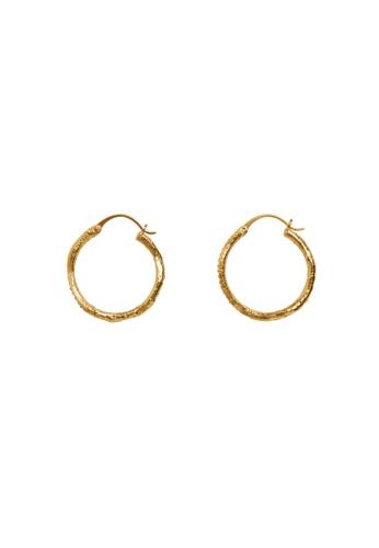 Mango gold Crystal Hoop Earrings 18636ACA7F30F7GS_1
