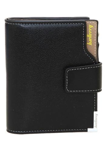 Baellerry black Dompet Kartu Pria Model Lipat Kasual Men's Card Wallet Anti Theft Material Leather ORIGINAL 549DDACA462C18GS_1