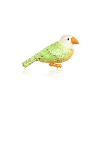 Glamorousky silver Fashion Simple Enamel Green Bird Brooch 202CEAC3D75672GS_1