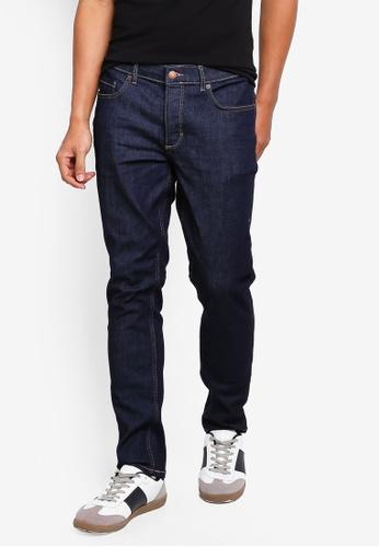 River Island 藍色 修身牛仔褲 D2173AA204A2D5GS_1