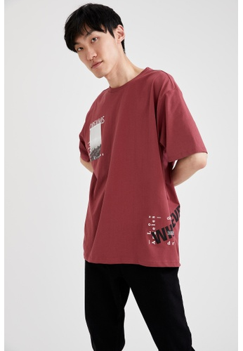 DeFacto red Man Knitted T-Shirt 39675AAD76A521GS_1