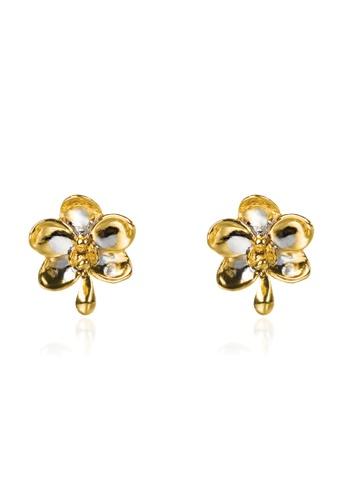 RISIS gold RISIS 18K Gold Plated Ascocenda Pierced Earrings 57B85AC6574B7DGS_1