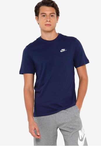 Nike navy Men's Sportswear Club Tee 8BE97AA62B1074GS_1