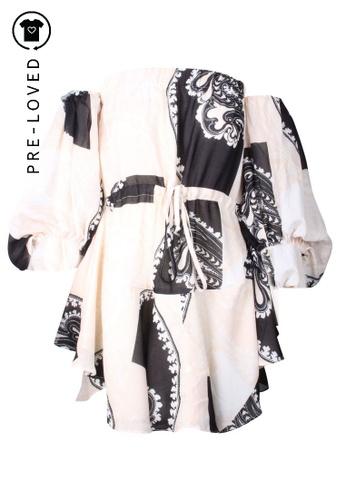 Shona Joy black Pre-Loved shona joy Print Flared Sleeve Dress 109A6AA1F05A08GS_1
