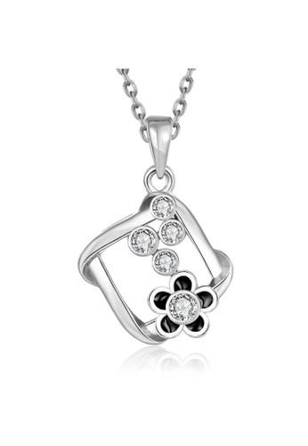 Tiaria white Tiaria Gold Plated Necklace Pendant Party KRGPN882-C--K09 50599AC168C228GS_1