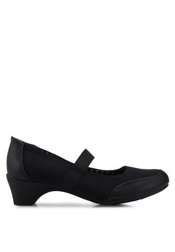 Bata black Elastic Strap Heels F876DSH71C18AFGS_1