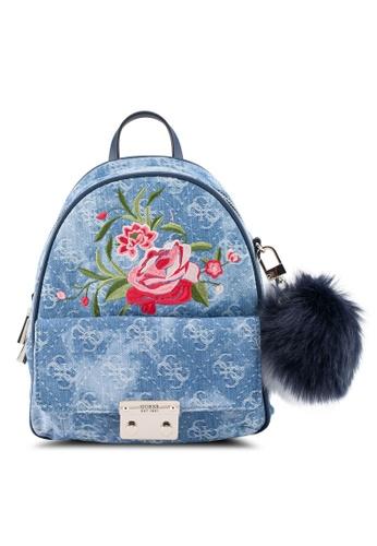 Guess blue Varsity Pop Small Backpack 1D4B0ACC37E09FGS_1