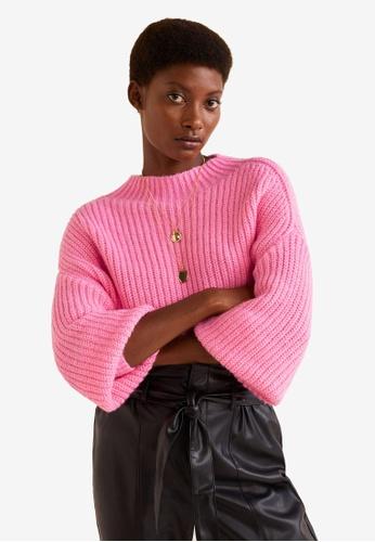 Mango pink Chunky-Knit Sweater 64A96AA2DFBE55GS_1