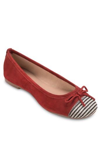 條紋圓頭平底鞋, 女鞋, 芭蕾平底esprit台灣門市鞋