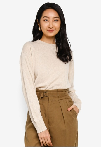 niko and ... beige Dropped Shoulders Sweater 9ED59AA0032C66GS_1