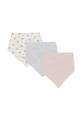 H&M grey and white and pink and multi 3-Pack Triangular Scarves D1680KC989B378GS_1