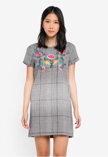 ZALORA multi Embroidery Check Dress 8F0CDAA67B464AGS_1