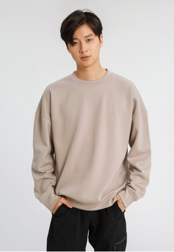 ALOWALO brown Alowalo - Oversized Sweatshirt Men- Mocca Pink 241CBAA792EE37GS_1