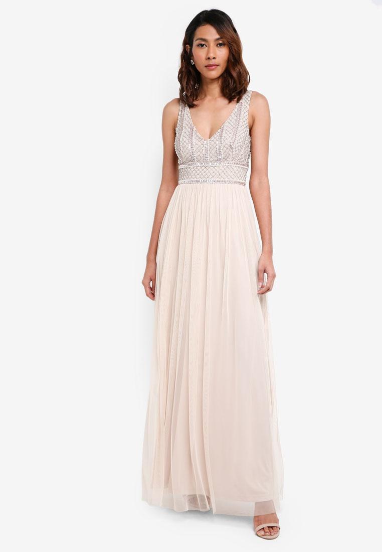 discount sale arrives online retailer Maxi Lace Beads Dress Mulan Cream amp; AgwTxx8q-klausecares.com