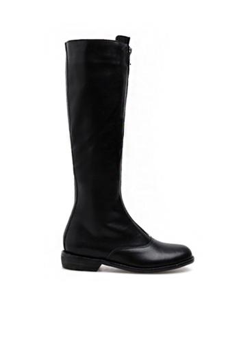 Twenty Eight Shoes black Zipper Riding Boots 9100-3 3BD6FSH0FADA1BGS_1