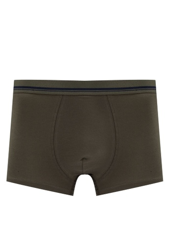 Mango Man green Cotton Boxer Shorts D2F7DUSDC7F310GS_1